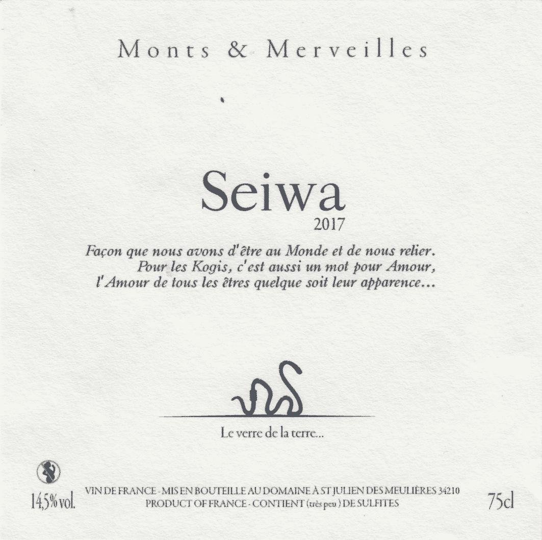 La cuvée Seïwa 2017 de Monts & Merveilles