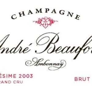 Grand Crû 2003 du domaine André Beaufort