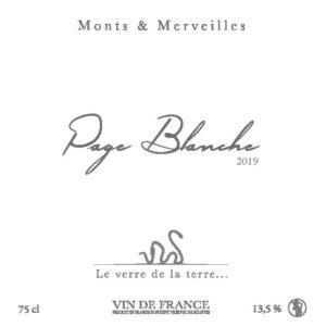 Page Blanche 2019 du domaine Monts & Merveilles